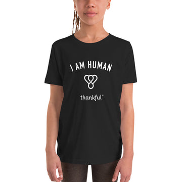 """I am Human"" Emblem Youth Short Sleeve T-Shirt"