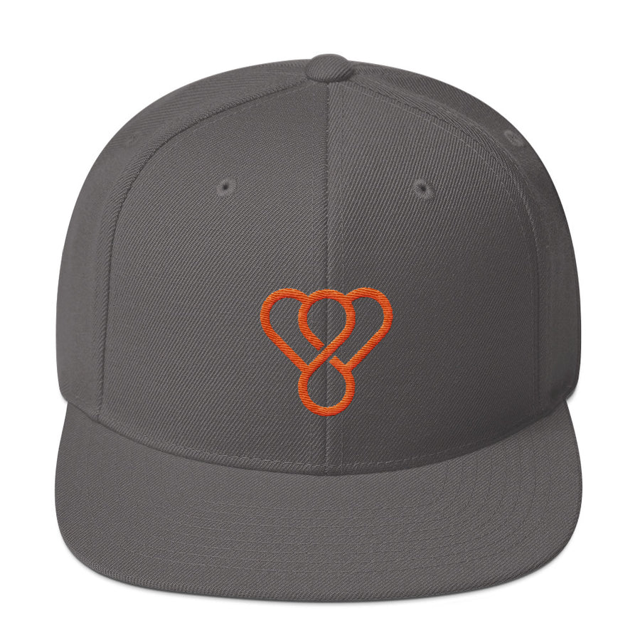 "Thankful ""Orange Logo"" Snapback Embroidered Hat"