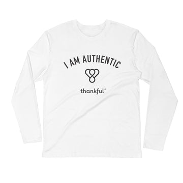 """I am Authentic"" Emblem Long Sleeve Men's Crew T-Shirt"