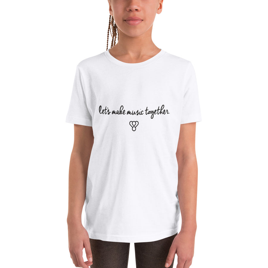 "Thankful ""Let's make music together"" Youth Short Sleeve T-Shirt"