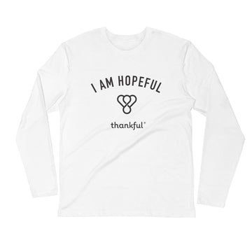 """I am Hopeful"" Emblem Long Sleeve Men's Crew T-Shirt"