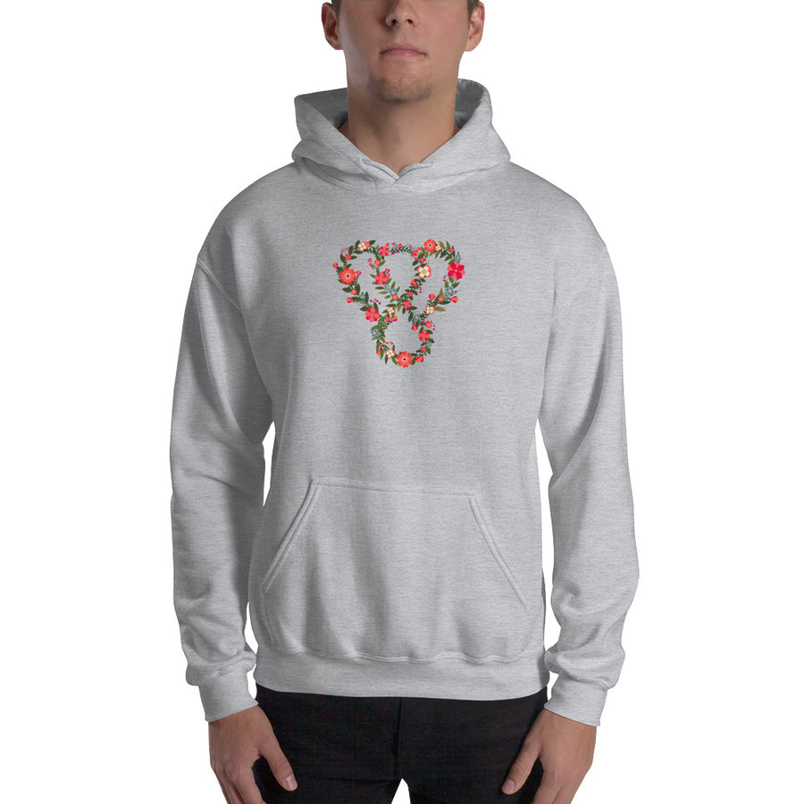 "Thankful ""Floral"" Unisex Heavy Blend Hooded Sweatshirt"