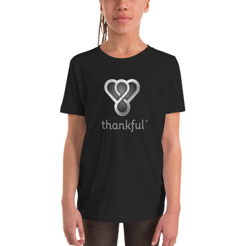 "Thankful ""Silver Music Speaker"" Youth Short Sleeve T-Shirt"