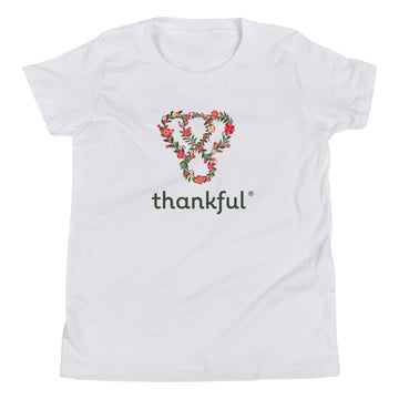 "Thankful ""Floral"" Youth Short Sleeve T-Shirt"