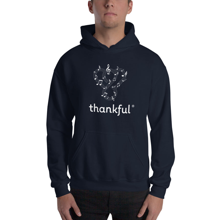 "Thankful ""Musical Notes"" Unisex Heavy Blend Hooded Sweatshirt"