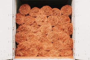Rolls of Colored Pine Straw