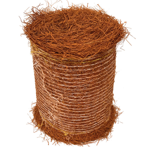 Roll of Brown Colored Pine Straw
