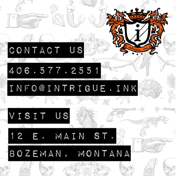 Contact and visit intrigue ink in Downtown Bozeman