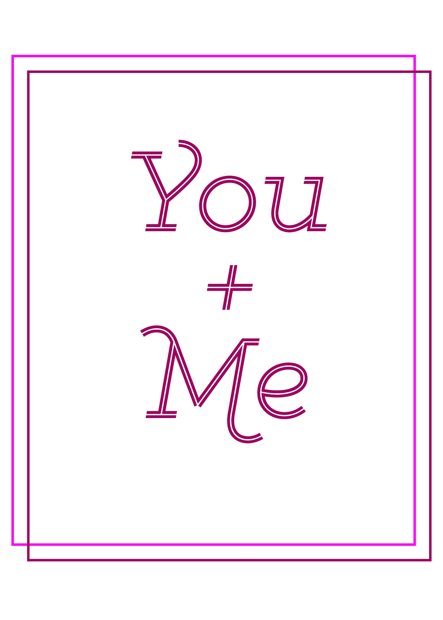 you and me montana valentines day card