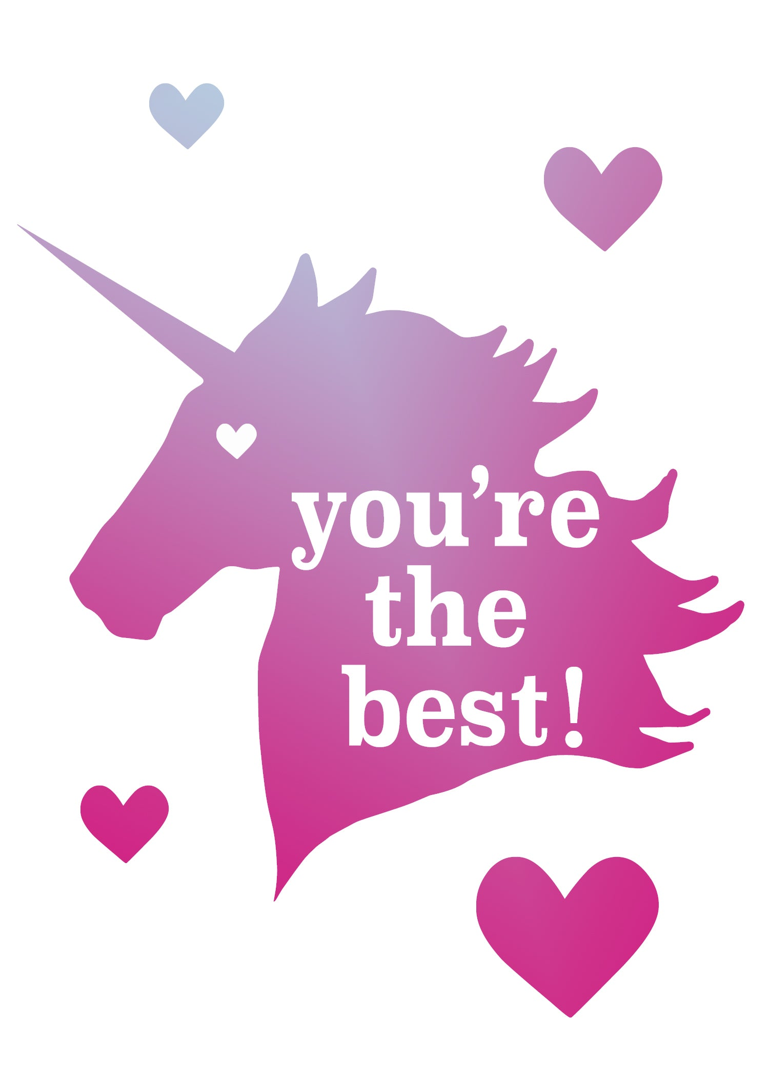You're the Best Unicorn Free Valentine Printable Freebie