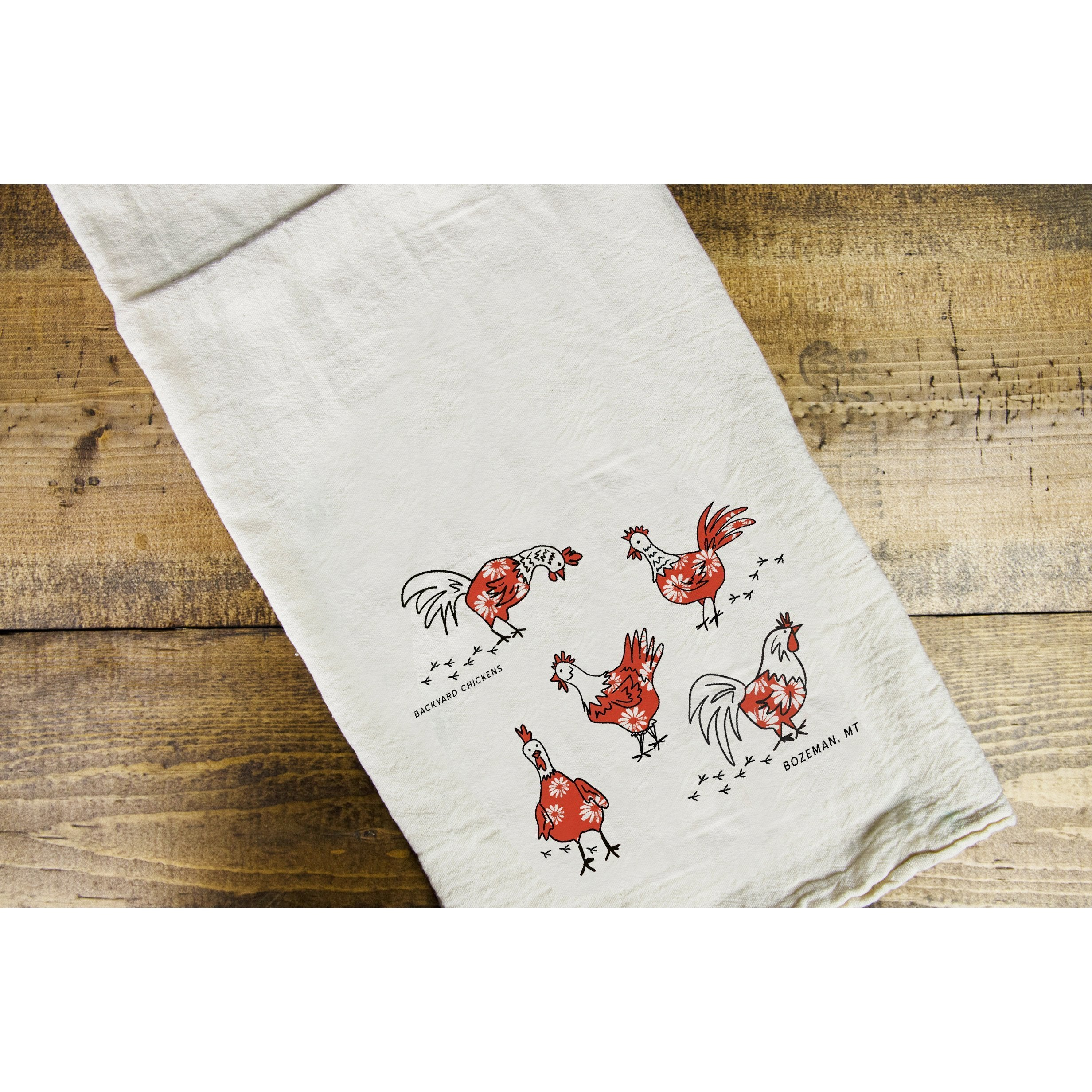 Backyard Chickens Dish Towel - Intrigue Ink Visit Bozeman, Unique Shopping Boutique in Montana, Work from Home Clothes for Women