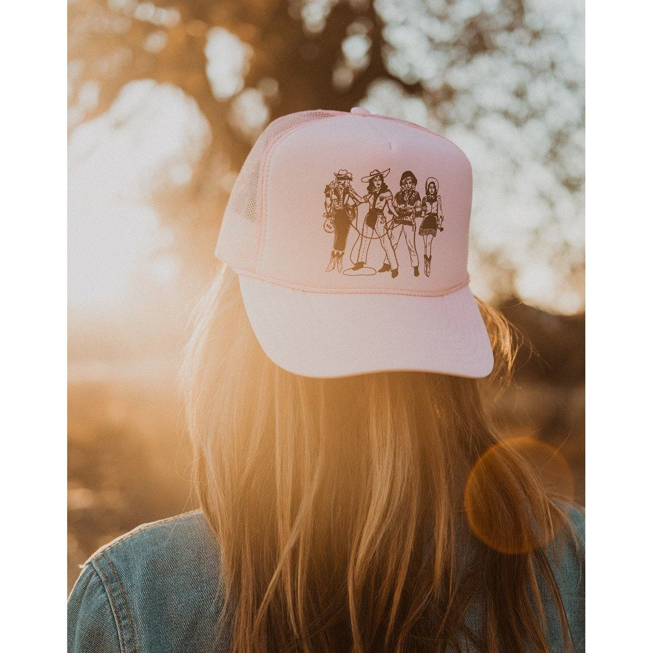 Lady Gang Trucker Hat Pink - Intrigue Ink Visit Bozeman, Unique Shopping Boutique in Montana, Work from Home Clothes for Women