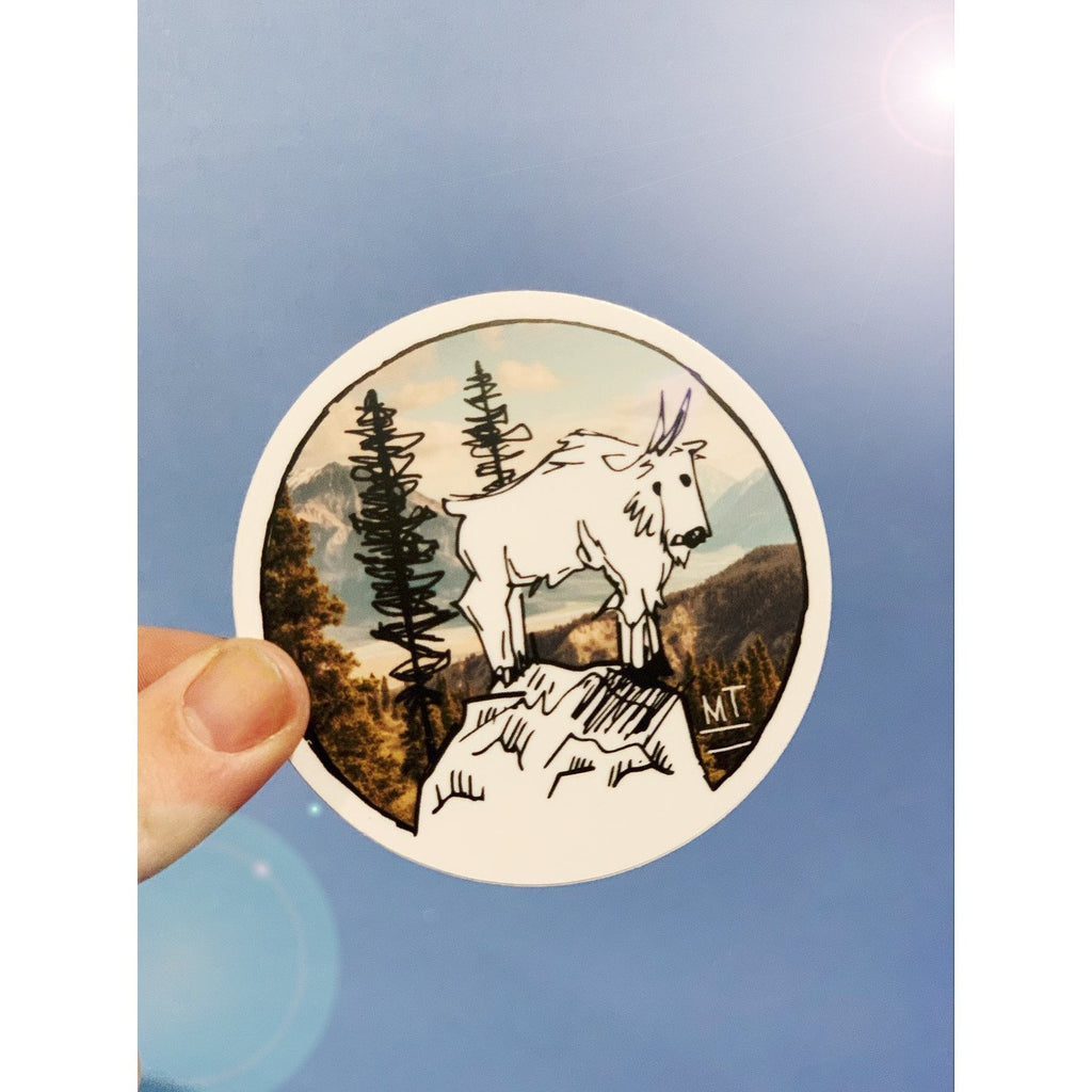 Mountain Goat Sticker - Intrigue Ink Visit Bozeman, Unique Shopping Boutique in Montana, Work from Home Clothes for Women