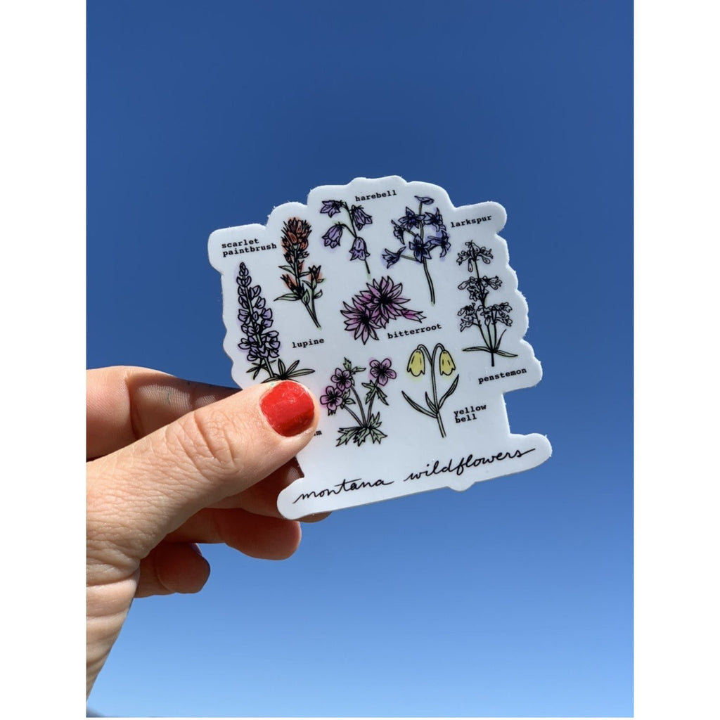 Montana Wildflowers Sticker - Intrigue Ink Visit Bozeman, Unique Shopping Boutique in Montana, Work from Home Clothes for Women