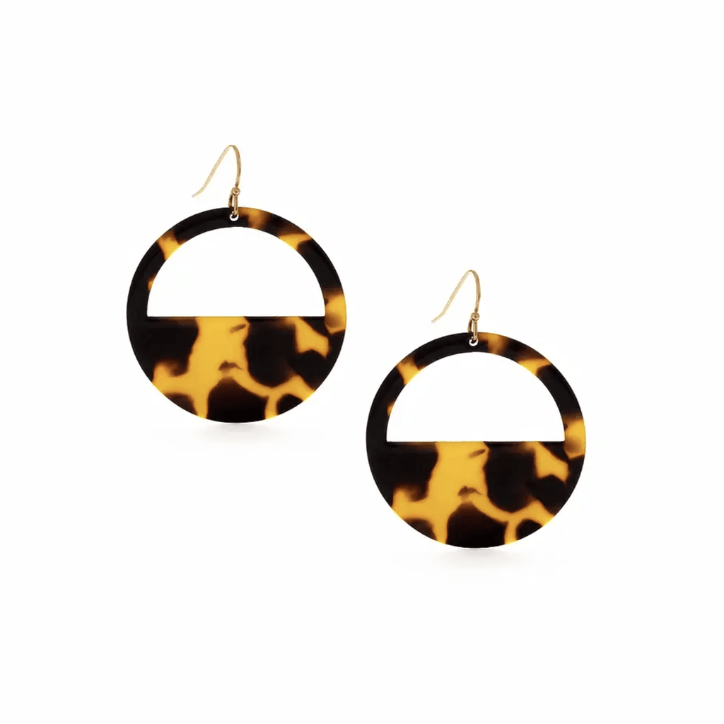 Geometric Tortoise Shell Earrings - Intrigue Ink Visit Bozeman, Unique Shopping Boutique in Montana, Work from Home Clothes for Women