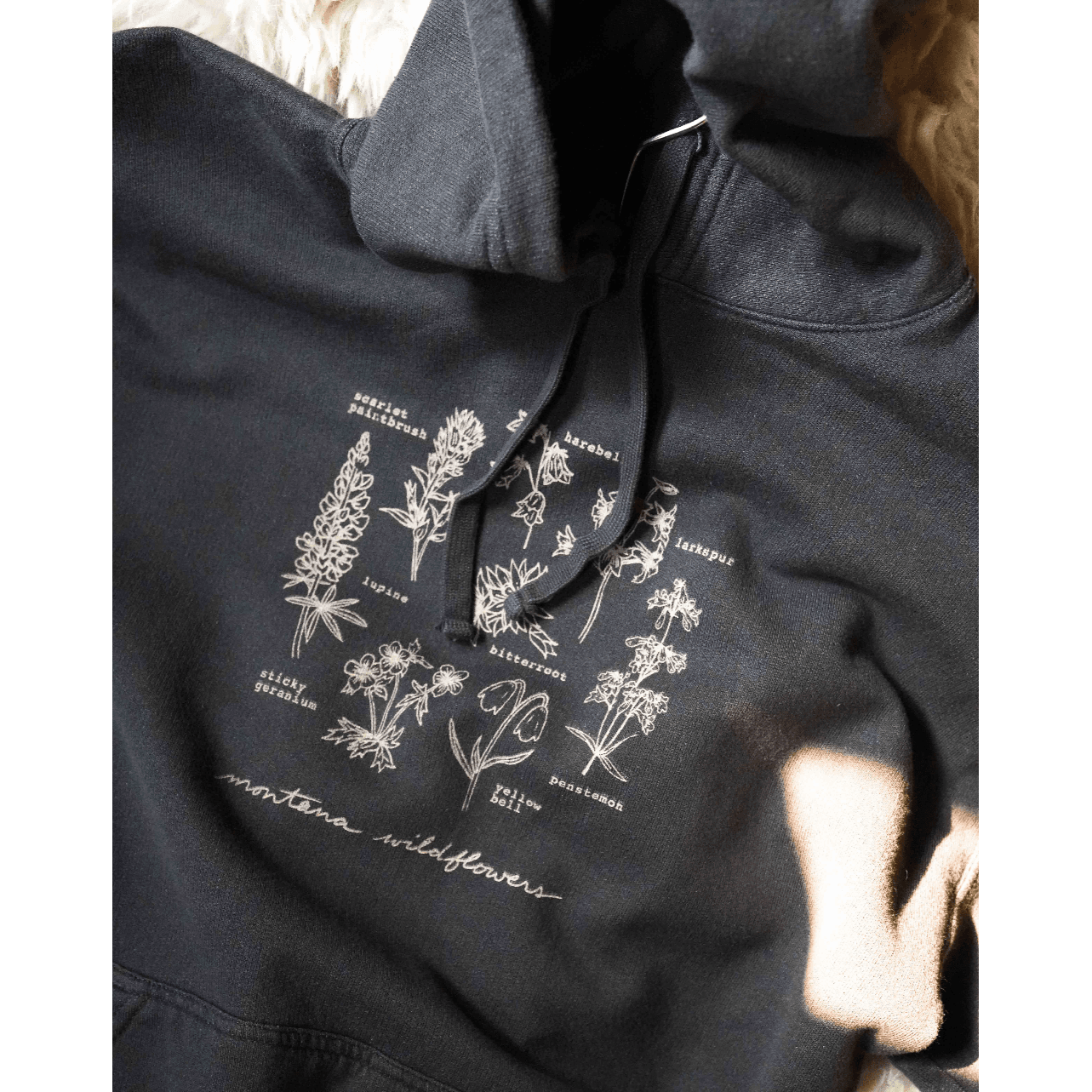 Vintage Black Wildflowers Hoodie - Intrigue Ink Visit Bozeman, Unique Shopping Boutique in Montana, Work from Home Clothes for Women