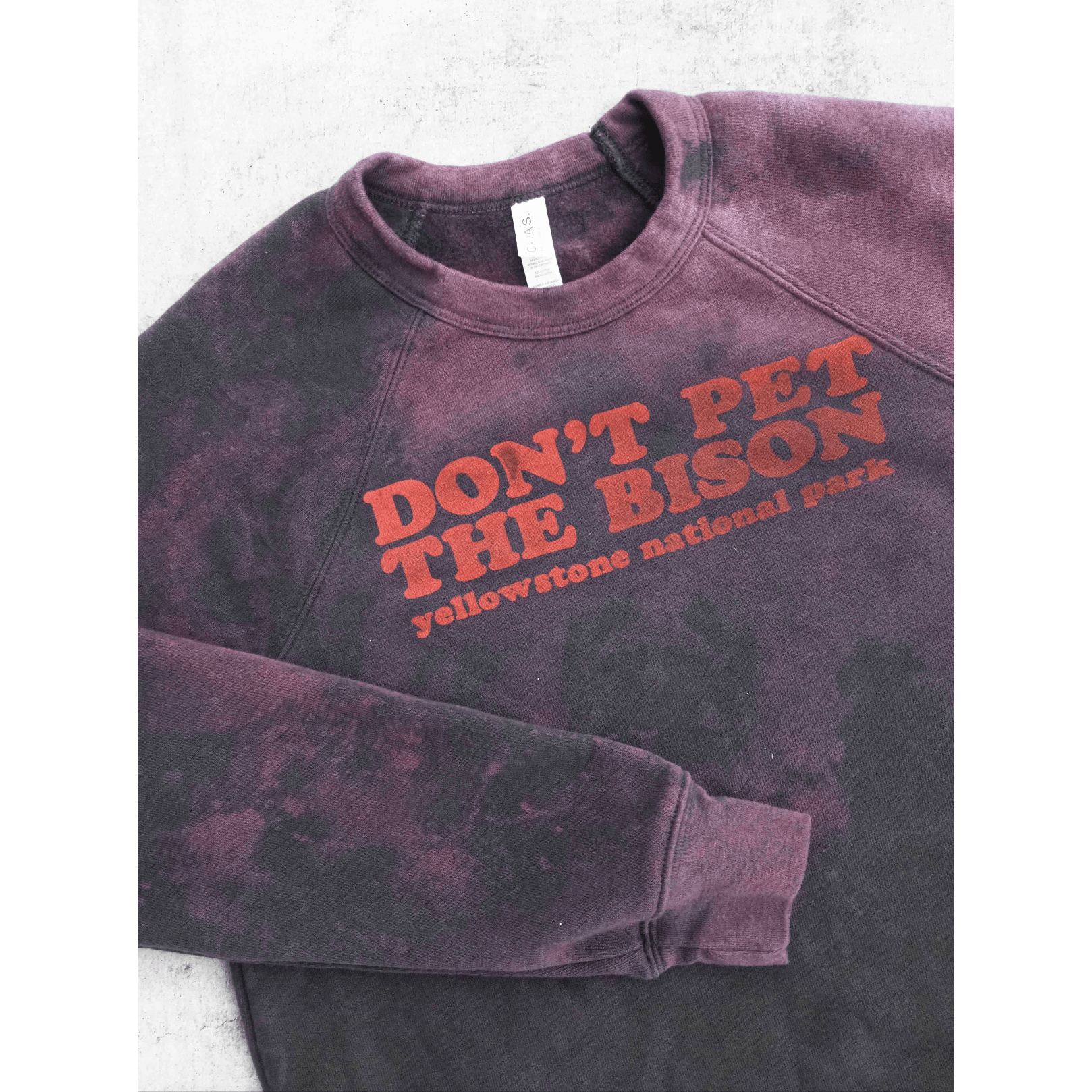 Don't Pet The Bison Bleached Pullover - Intrigue Ink Visit Bozeman, Unique Shopping Boutique in Montana, Work from Home Clothes for Women