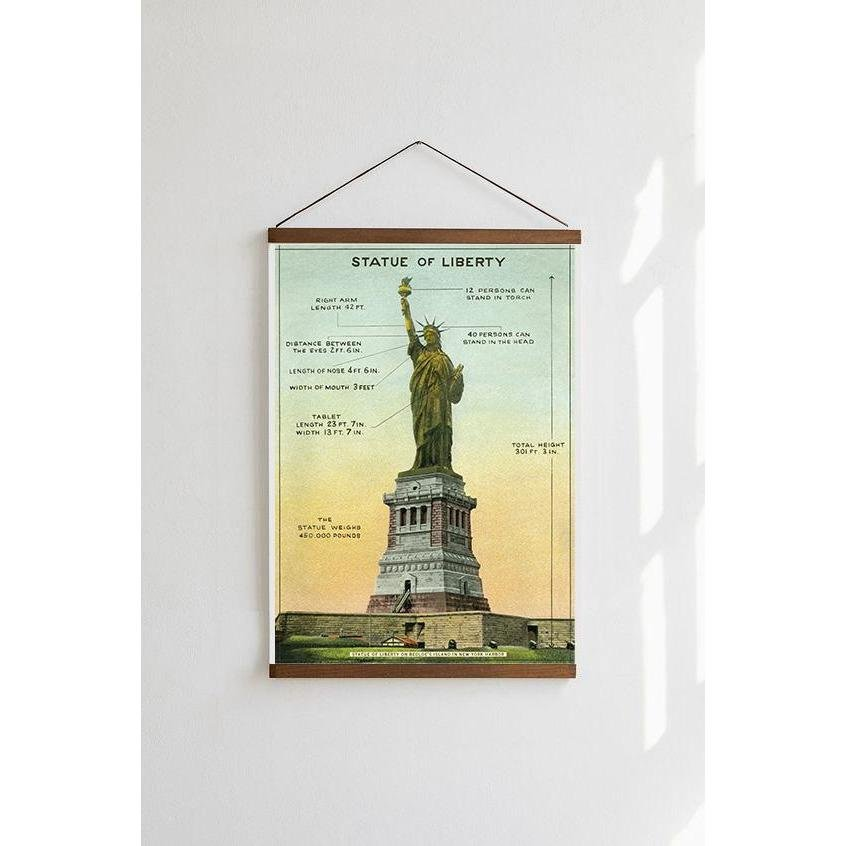 Statue of Liberty Cavallini Poster - Intrigue Ink Visit Bozeman, Unique Shopping Boutique in Montana, Work from Home Clothes for Women