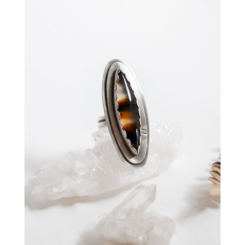 THS-Montana Agate Canoe Ring - Intrigue Ink Visit Bozeman, Unique Shopping Boutique in Montana, Work from Home Clothes for Women