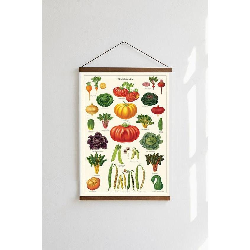 Vegetables Cavallini Poster - Intrigue Ink Visit Bozeman, Unique Shopping Boutique in Montana, Work from Home Clothes for Women