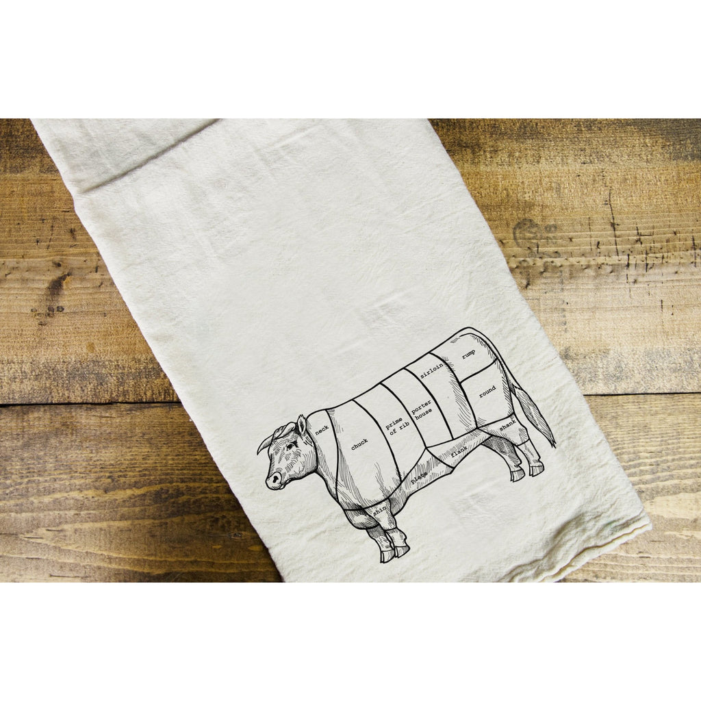 Beef Cut Dish Towel - Intrigue Ink Visit Bozeman, Unique Shopping Boutique in Montana, Work from Home Clothes for Women