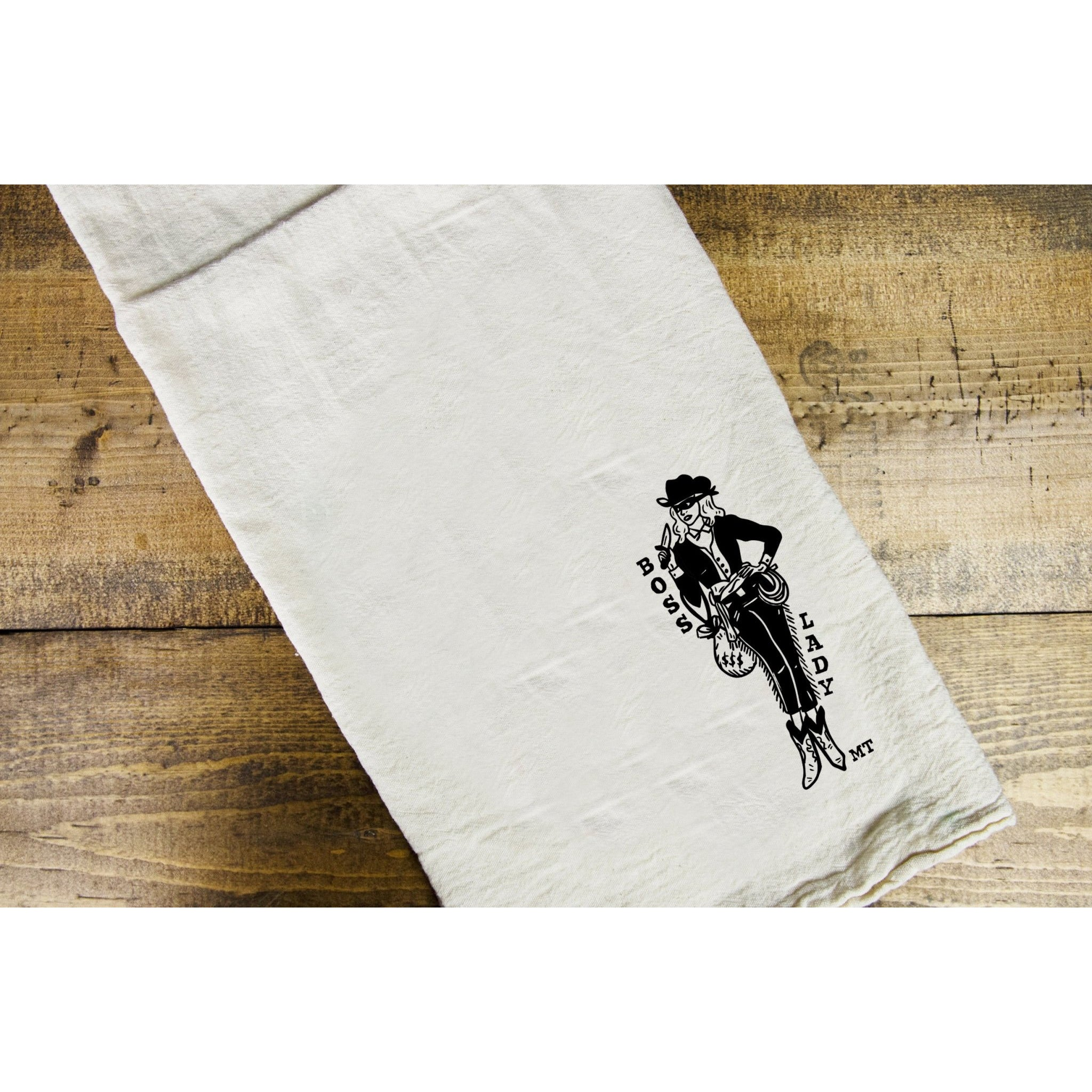 Boss Lady Dish Towel - Intrigue Ink Visit Bozeman, Unique Shopping Boutique in Montana, Work from Home Clothes for Women