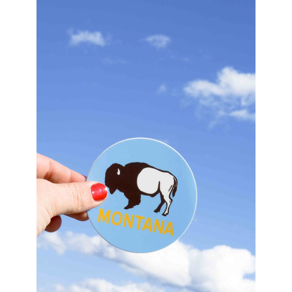 Buffalo Montana Sticker - Intrigue Ink Visit Bozeman, Unique Shopping Boutique in Montana, Work from Home Clothes for Women