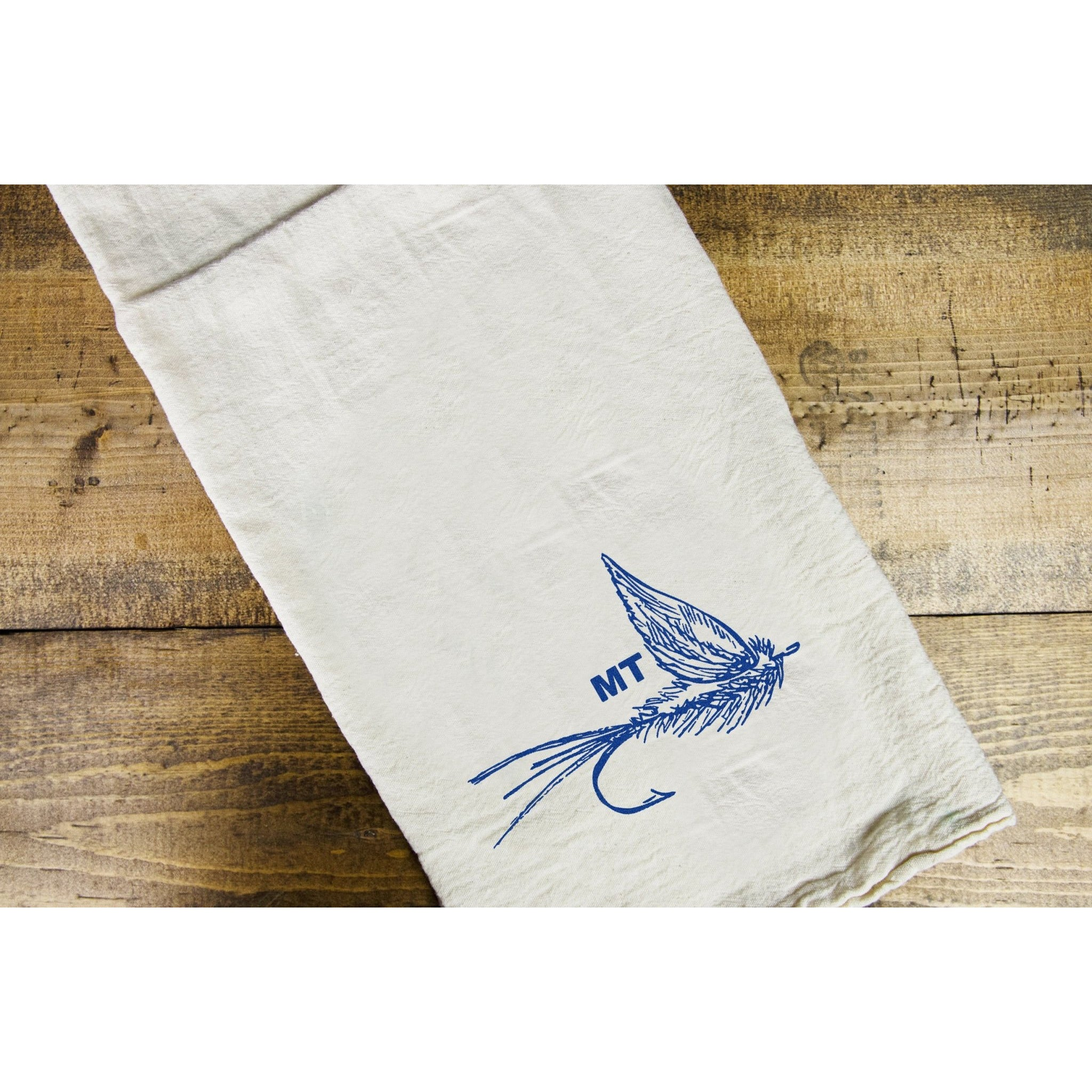 Dry Fly Dish Towel - Intrigue Ink Visit Bozeman, Unique Shopping Boutique in Montana, Work from Home Clothes for Women