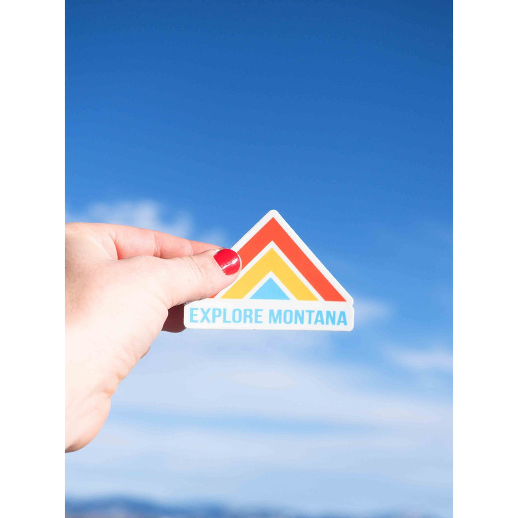 Explore MT Sticker - Intrigue Ink Visit Bozeman, Unique Shopping Boutique in Montana, Work from Home Clothes for Women