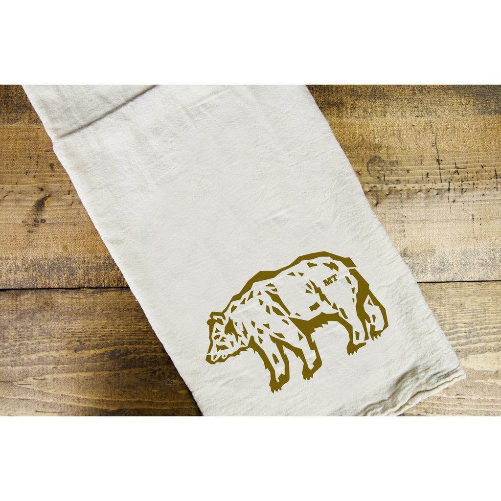 Grizzly Dish Towel - Intrigue Ink Visit Bozeman, Unique Shopping Boutique in Montana, Work from Home Clothes for Women