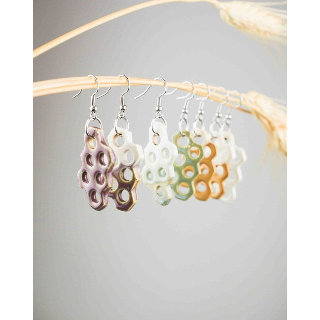 Honeycomb Earrings - Intrigue Ink Visit Bozeman, Unique Shopping Boutique in Montana, Work from Home Clothes for Women