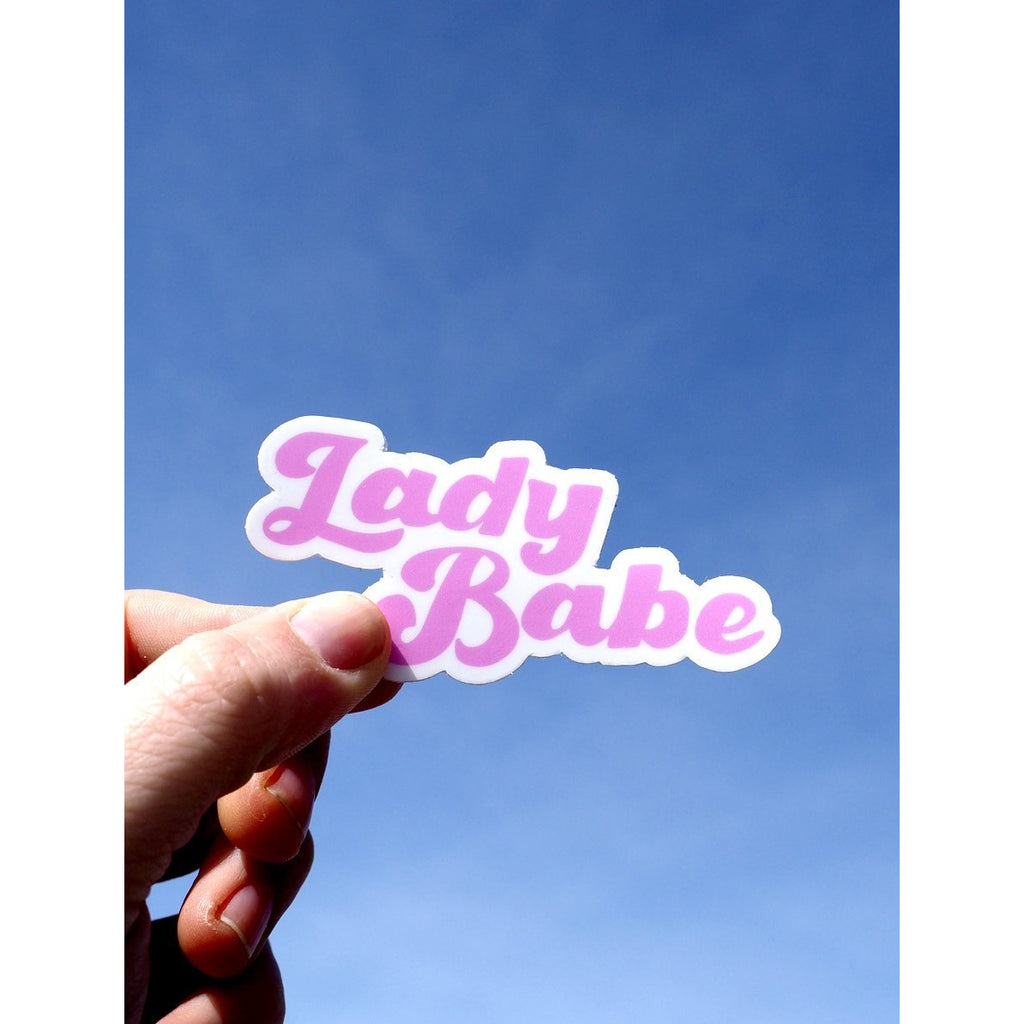 Lady Babe Sticker - Intrigue Ink Bozeman Boutique
