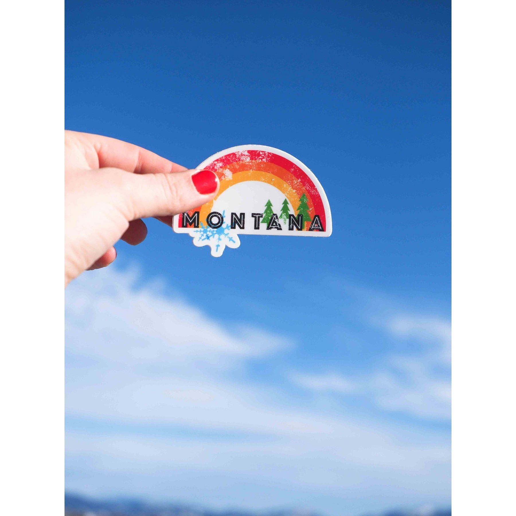Montana Rainbow Sticker - Intrigue Ink Visit Bozeman, Unique Shopping Boutique in Montana, Work from Home Clothes for Women