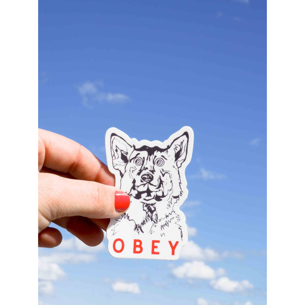 Obey Dog Sticker - Intrigue Ink Bozeman Boutique