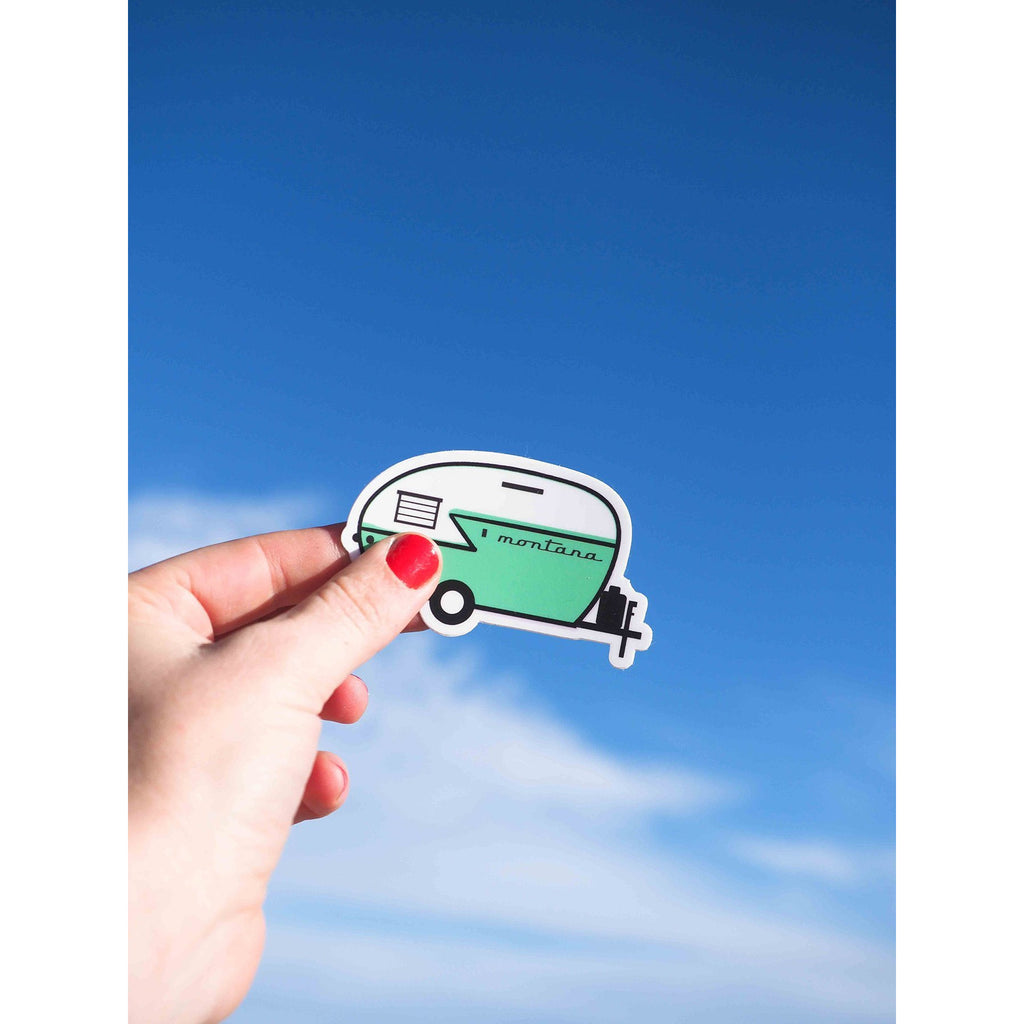 Retro Camper Sticker - Intrigue Ink Bozeman Boutique
