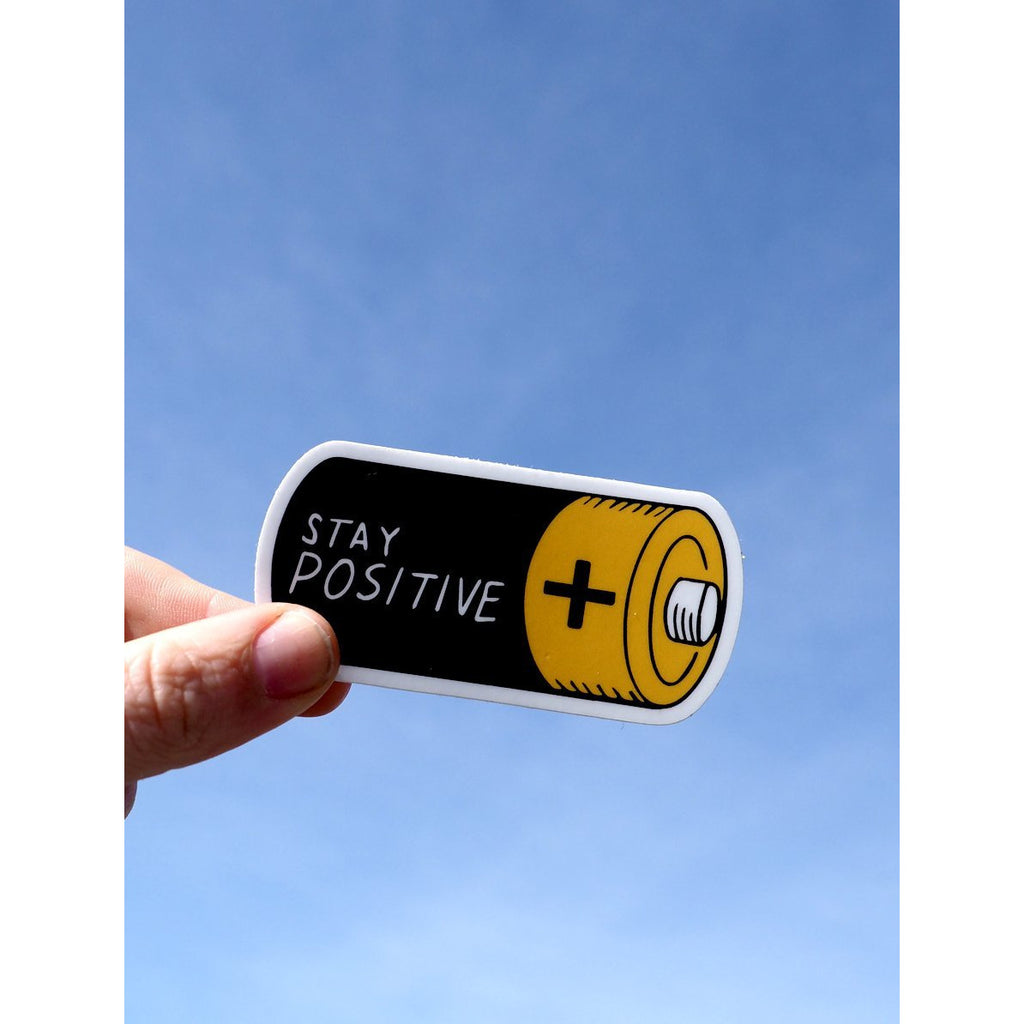 Stay Positive Sticker - Intrigue Ink Visit Bozeman, Unique Shopping Boutique in Montana, Work from Home Clothes for Women