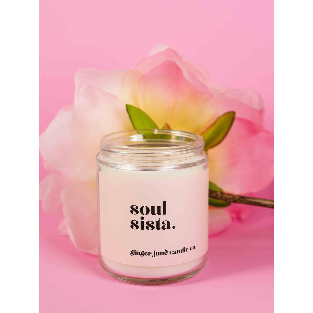 White Phrase Candles-Ginger June Candle Co. - Intrigue Ink Bozeman Boutique