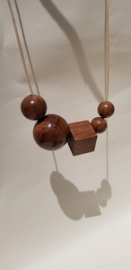 Wooden Bead Necklace - Jozi