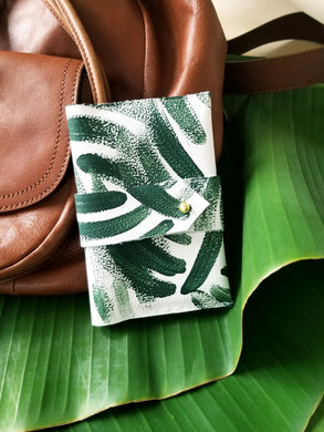 Leather Passport Cover- Palm