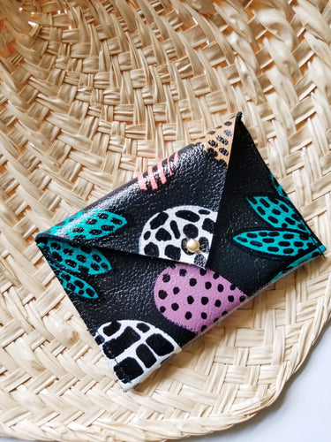Leather Envelope Wallet - Card Holder - Adaora
