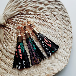 Leather Tassel Key Fob- Adaora