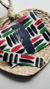 Leather Passport Cover - Pan-African Omi
