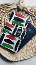 Load image into Gallery viewer, Leather Passport Cover - Pan-African Omi