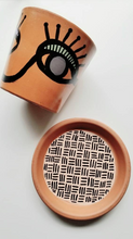 Load image into Gallery viewer, MURSI Collection- Face Print - Terra Cotta Plant Pot