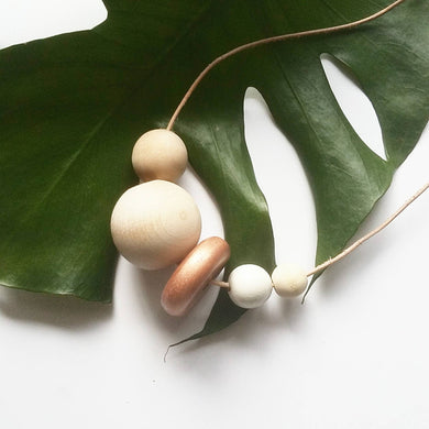 Wooden Bead Necklace- ODILE- PRE-ORDER