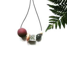 Load image into Gallery viewer, JAID- Wooden Bead Necklace