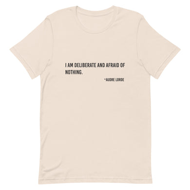 Audre Lorde- Deliberate- Short-Sleeve Unisex T-Shirt