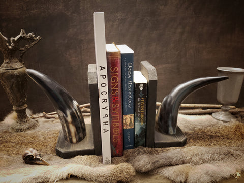 Horned Book Ends, Pair