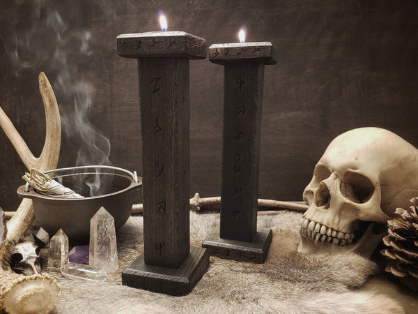 Arcane Black Candlesticks