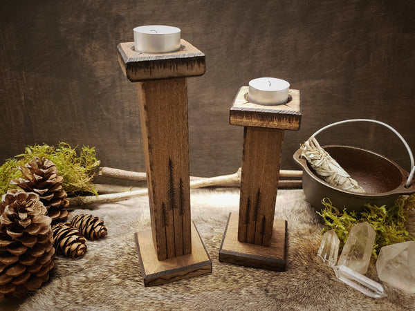 Woodlands Candlesticks